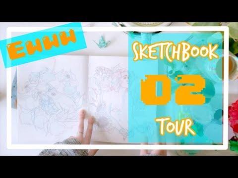 || 02 || Sketchbook Tour || Trash-doodle Filled 2018