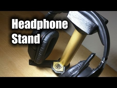 Headphone Stand - 3D Printed Headset Stand - HD