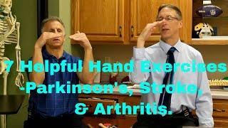 7 Helpful Hand Exercises for Parkinson's Etc. Improve Handwriting, Flexibility, & Dexterity.