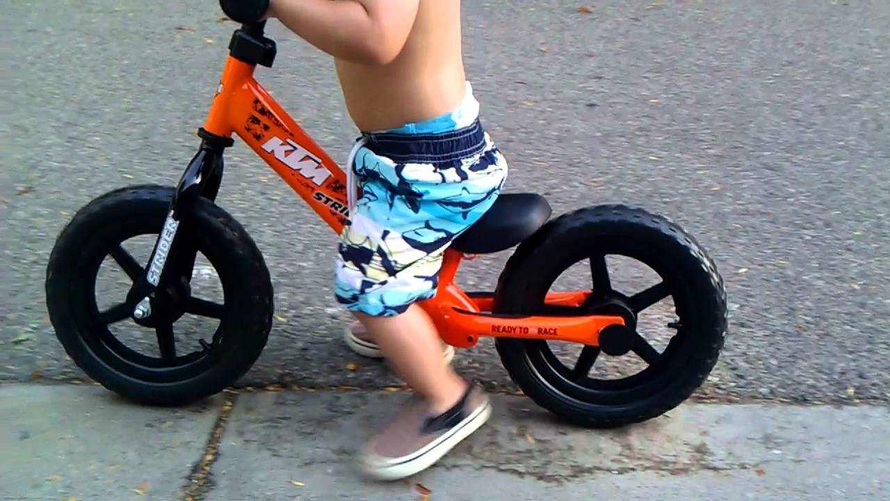 Jonah Riding His Ktm Strider Bike For The First Time Youtube
