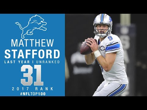 #31: Matthew Stafford (QB, Lions) | Top 100 Players of 2017 | NFL