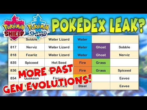 FULL Gen 8 Pokedex LEAKED?! New Evolutions, New Type Combos