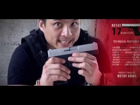 Retay 17 blank firing gun Movie, Retay g17 kurusıkı tabanca