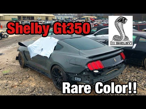 Looking At a Wrecked 2018 Mustang Shelby GT350 At Copart Salvage Auction