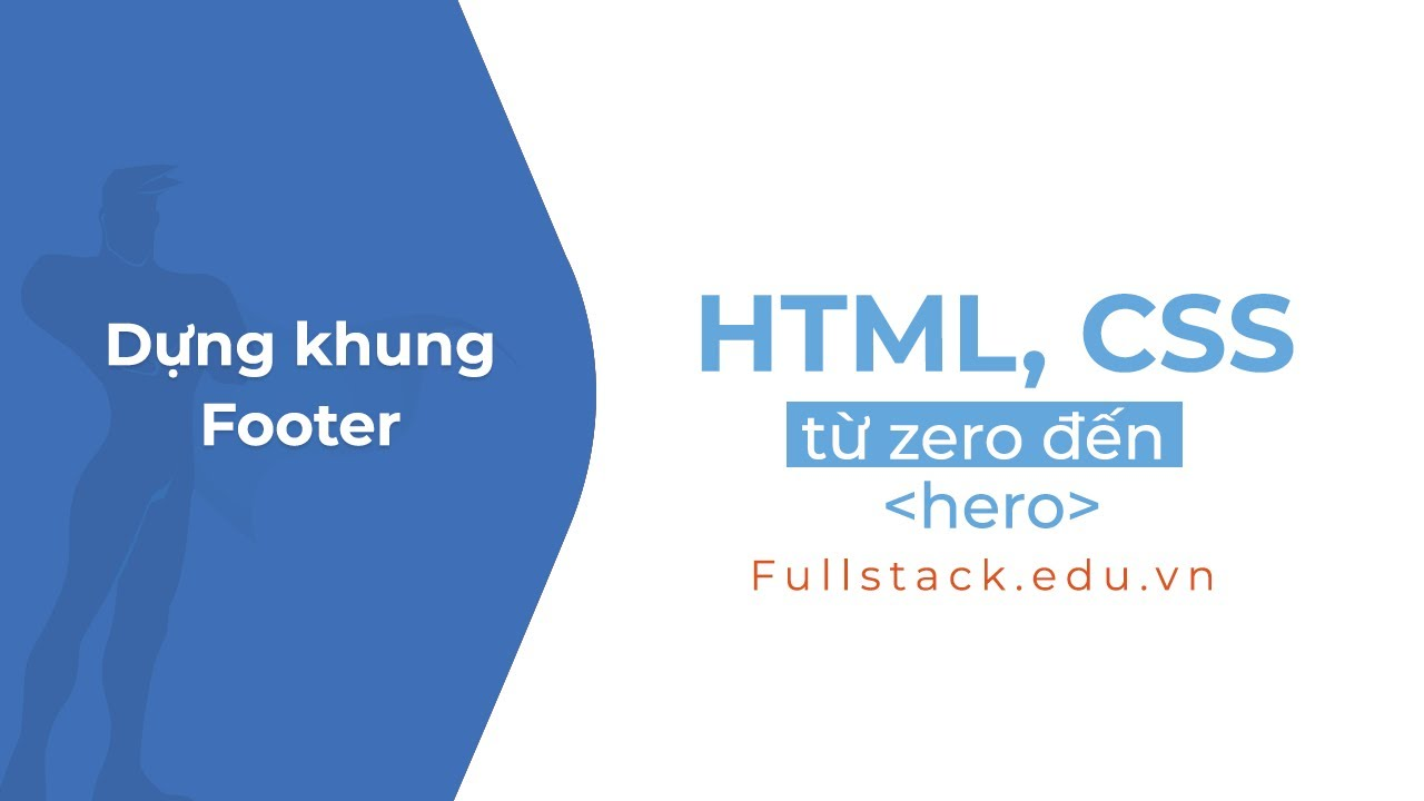 Dựng khung footer