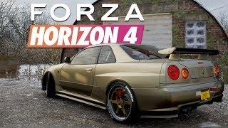 FORZA HORIZON 4 Part 8 - Scheunenjagd im R34 GTR!! | Lets Play