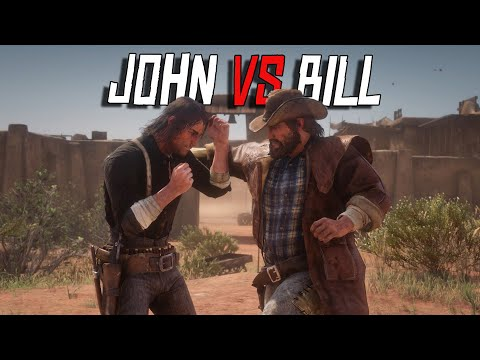 John Marston Vs Bill Williamson Fist Fight | NPC Vs NPC | RDR2 Fight Club #2 (RDR2 Mods)