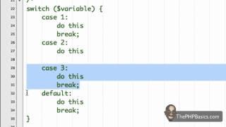Tutorial 14 - PHP Switch Statement