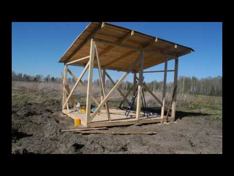 видео: Строительство сарая своими руками