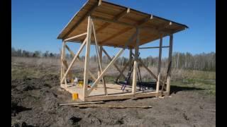 видео Как построить сарай своими руками с односкатной крышей?