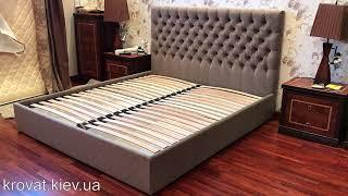 Кровать с мягким изголовьем и подъемным механизмом на заказ