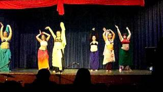 Veil Dance to Raqsat Vashti, Intermediate dancers of Purdue Mirage, Gypsy Hearts charity show