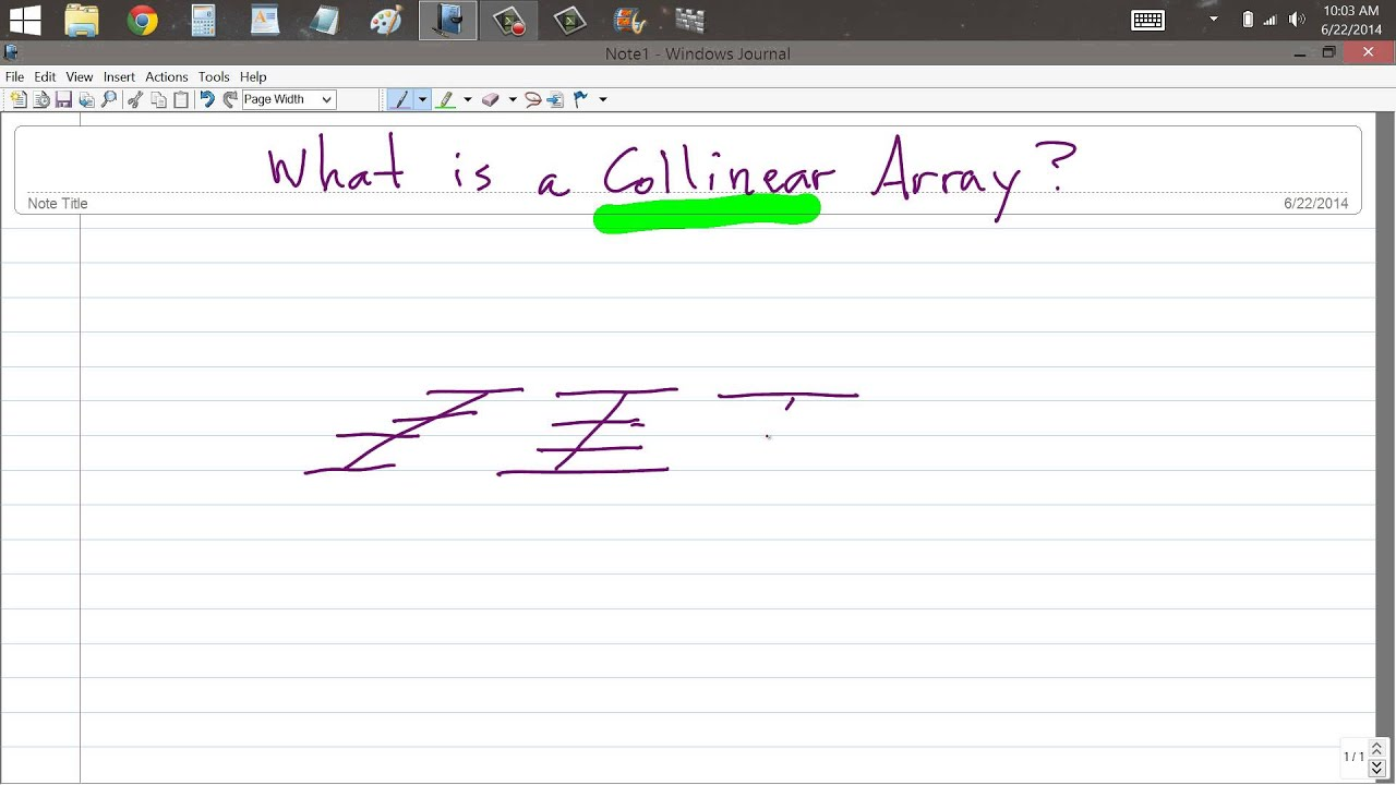What is a Collinear Array?