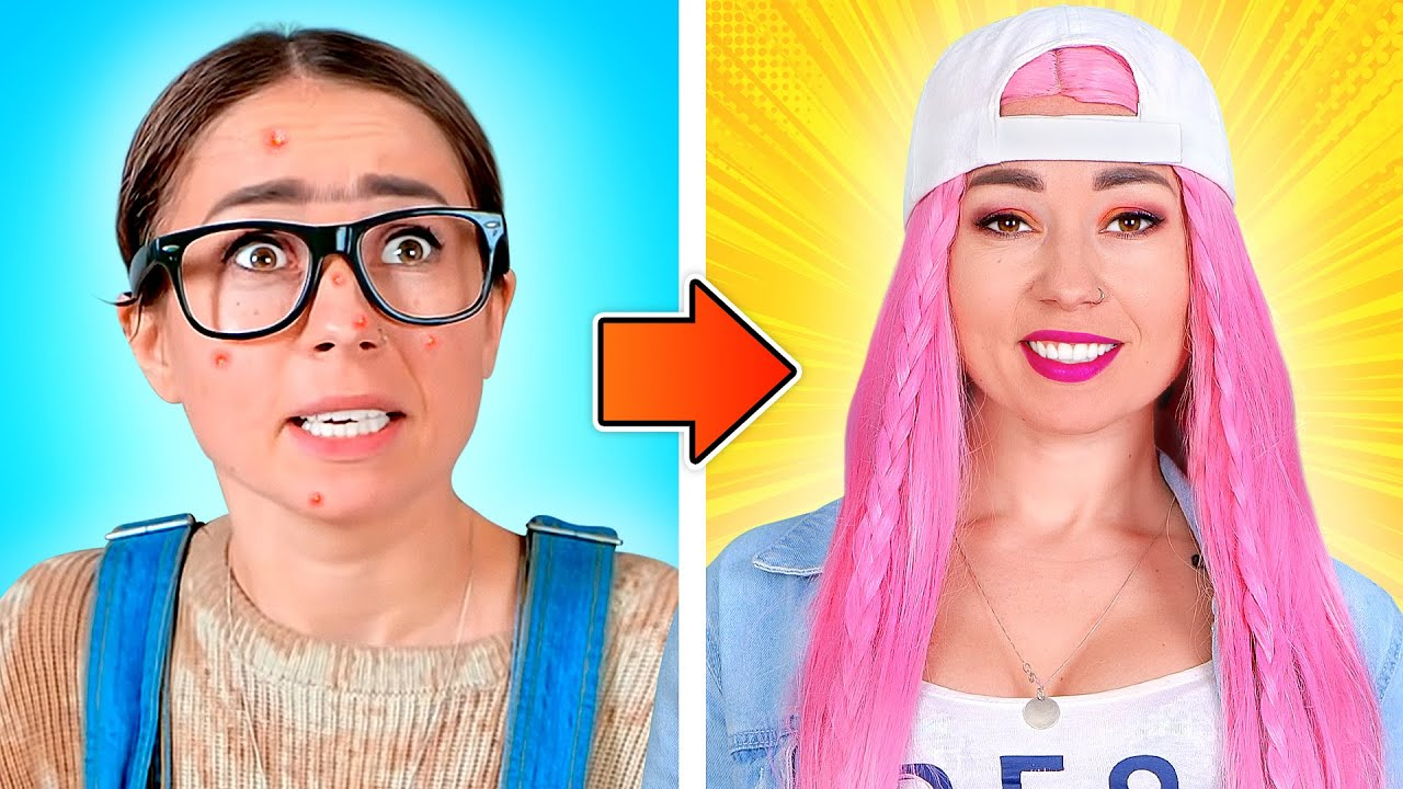 NERD VS POPULAR || Good Girl Vs Bad Girl | Funny Situations by Challenge Accepted
