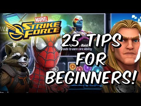 25 Tips For Beginners! - Introduction To Marvel Strike Force Global Launch