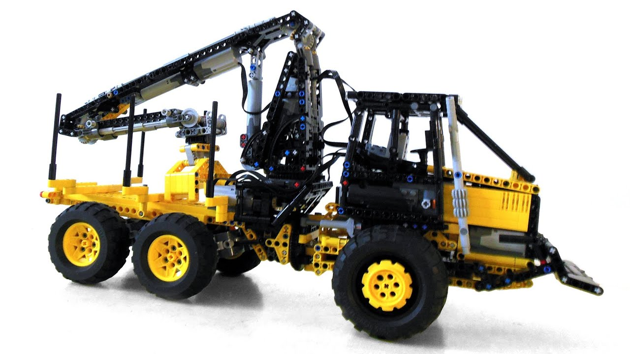 lego technic forest equipment skidder forwarder youtube. Black Bedroom Furniture Sets. Home Design Ideas