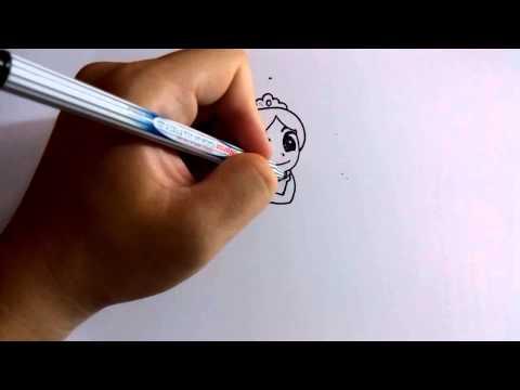 วาดการ์ตูนกันเถอะ สอนวาดการ์ตูน เจ้าหญิง ราพัลเซล ง่ายๆ หัดวาดตามได้