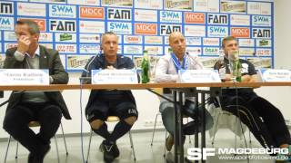 Pressekonferenz - 1. FC Magdeburg gege VFC Plauen 1:0 (0:0) - www.sportfotos-md.de