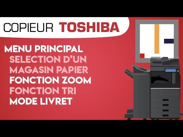 #02. Menu Principal - Séléction d'un magasin papier,  Zoom, Fonction Tri, Mode Livret