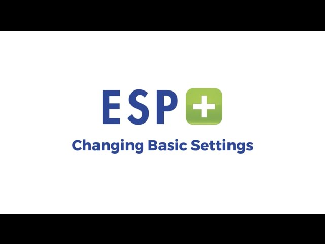 Video 3 - Changing Basic Settings