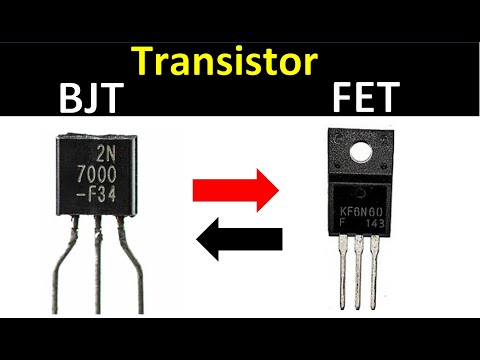 transistor BJT and FET working in hindi
