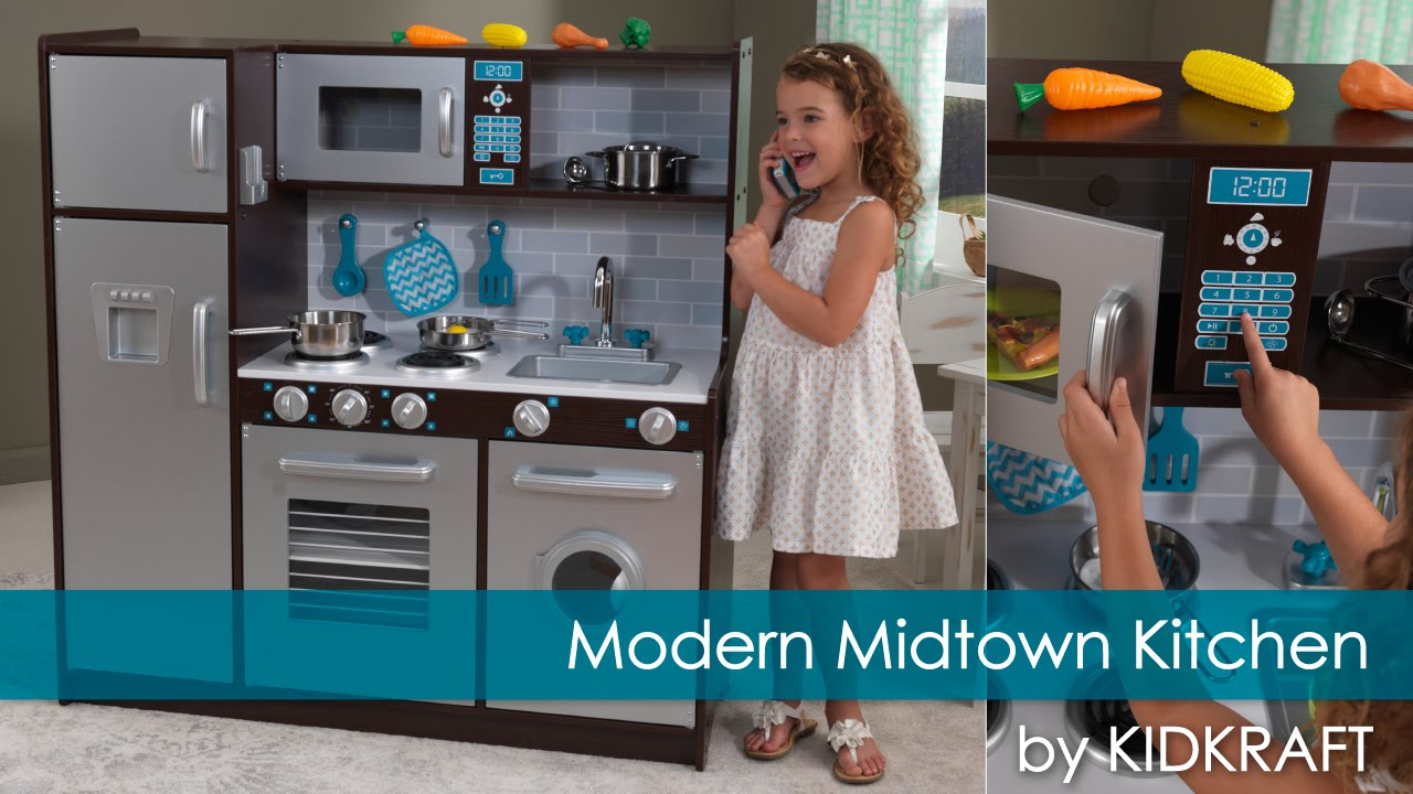 Children's Modern Midtown Play Kitchen  Toy Review