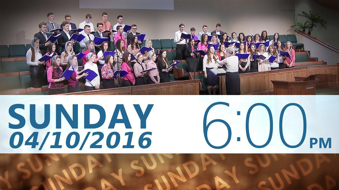 04/10/2016 6pm Sunday Service