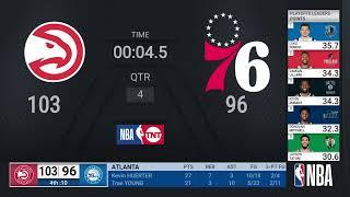 Hawks @ 76ers ECSF Game 7 | NBA Playoffs on TNT Live Scoreboard
