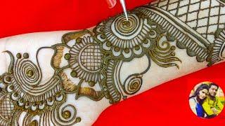 latest Stylish arebic easy Western arebic beautiful mehndi design for ✋hand by sakshi gupta