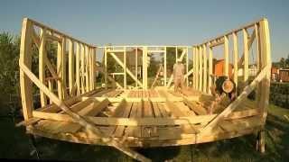 Каркасный дом 6 на 6 своими руками ч.4 (поднимаем стены)(В этом видео рассказано о том, как мы поднимали собранные внешние, а потом внутренние стены каркасного дома...., 2015-06-10T23:23:09.000Z)