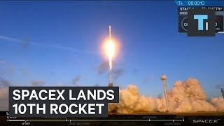 Watch SpaceX Lands Its 10th Rocket For A Top Secret Mission