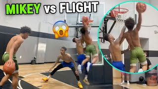 FlightReacts CALLS OUT Mikey Williams & Then Gets DUNKED ON! Insane 1 vs 1 Battle BEFORE JUNE! 👀