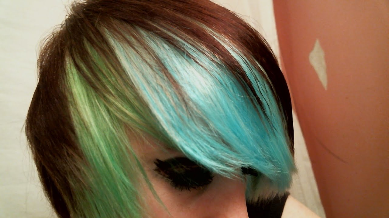 Dying My Hair Blue And Green With Kool Aid Youtube
