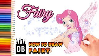 How to Draw Disney Tinker Bell Fairy step by step | 4 Kids