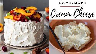 HOW TO MAKE CREAM CHEESE AT HOME| Best homemade cream cheese recipe | Cream Cheese Frosting