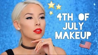 Easy Patriotic Makeup Tutorial! | LustreLux