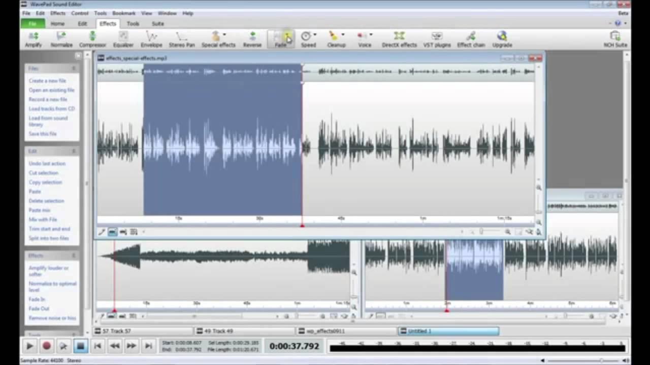 wavepad video editor