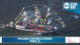 Aerials from Gasparilla Children's Parade