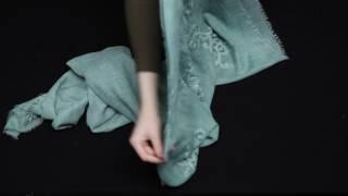 Женский зеленый платок с декор элементами от AURI (UV-11738 11-2 9b31dafd2ba