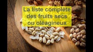 La liste complète des oléagineux (fruits secs ou fruits à coques)