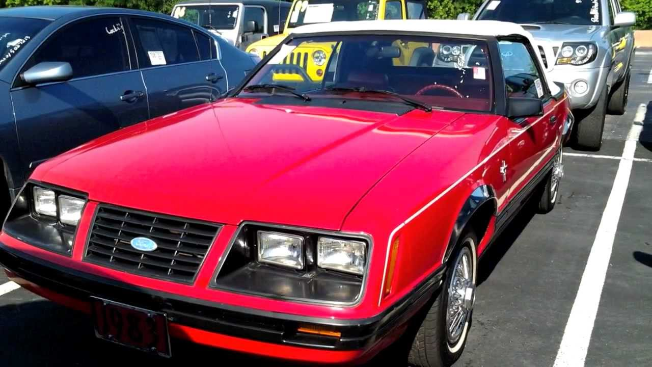 V6 Mustang Hp >> 1983 Ford Mustang GLX Convertible 3.8L V6 Start Up Quick ...