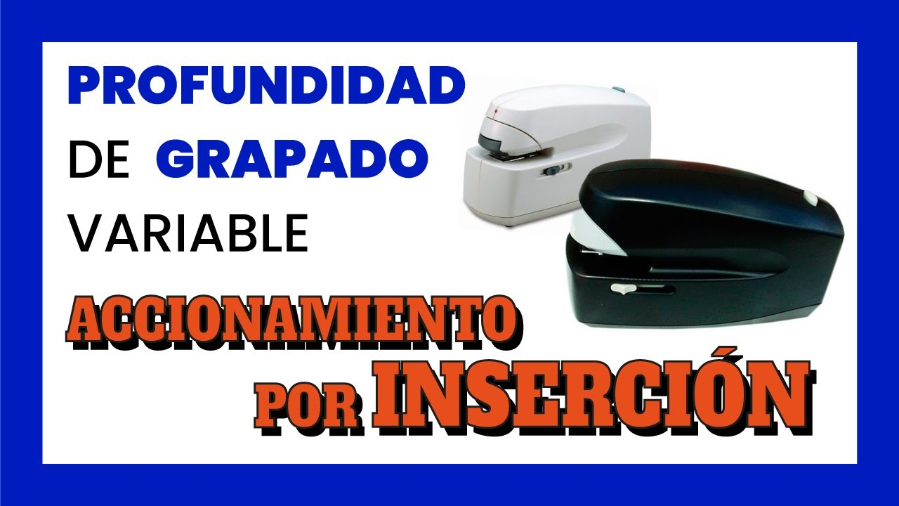 Grapadora electrica sobremesa 5990 youtube for Grapadora electrica oficina