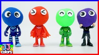 Learn Color With Pj Masks Clay & Head Color Sand For Kids [Jj Colors]