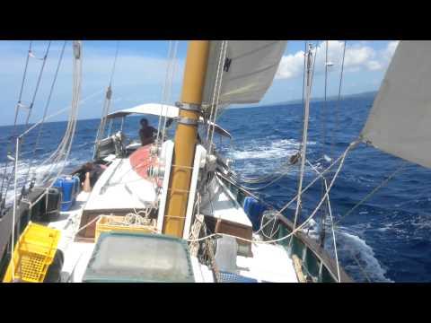 Full sail in the Sulu Sea