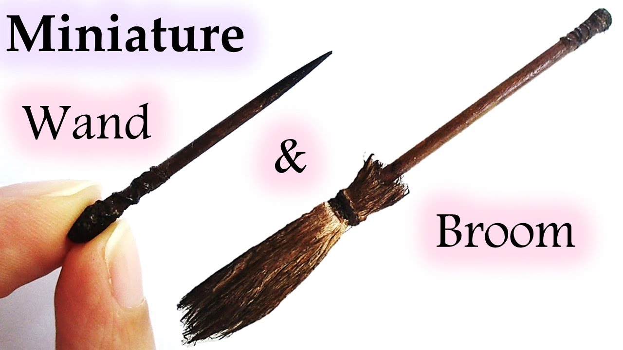 Miniature halloween witch 39 s broom magic wand maive - Coole wanddesigns ...