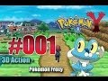 Let's Play Pokemon Y- Nr.1 - 3D Action - Pokemon X / Y Froxy -  Kalos-Region - [Deutsch] [HD]
