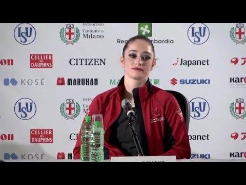 World Figure Skating 2018 Ladies' Conference - Reporters vs Kaetlyn Osmond