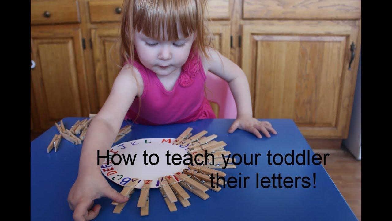 Teach toddler write alphabets experience