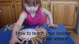 How to teach your toddler their letters! Matching activities! DIY! Thumbnail