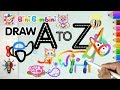 Draw Animals & Alphabets A-Z Easy Coloring Animation Part 1